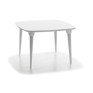 mesa púa rectangular blanco