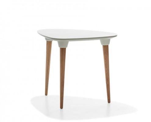 mesa púa equilátero blanco