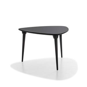 mesa púa equilátero lacado negro