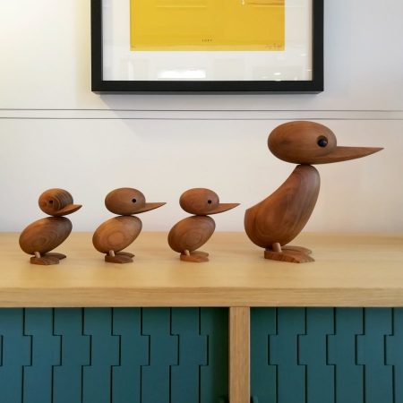 Familia de patos de madera architectmade Duck and Duckling