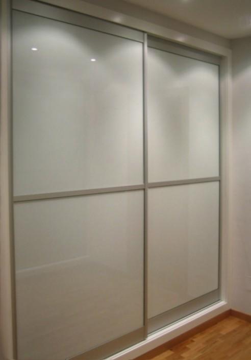 armario empotrado cristal blanco