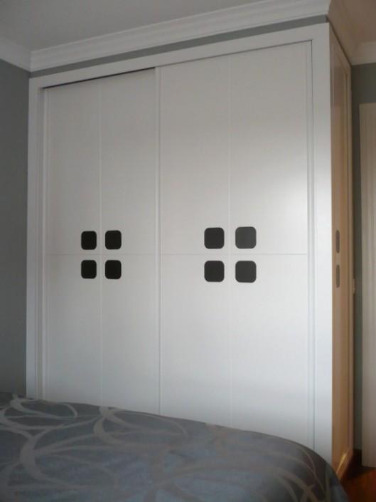 armario empotrado lacado blanco, diseño a medida
