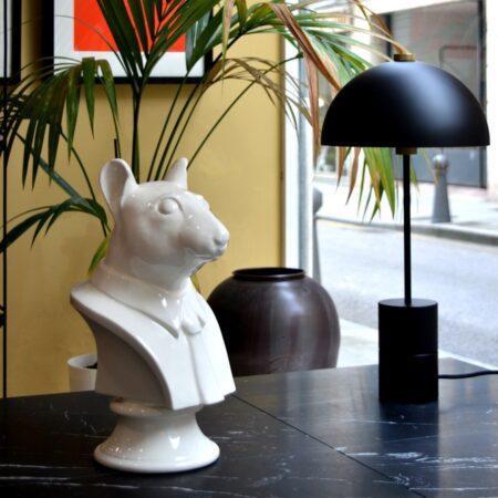 Busto de ratón de cerámica Talavera