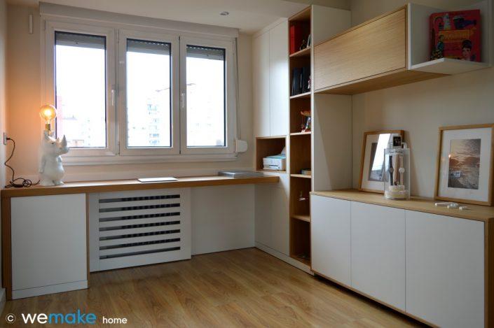 wemakehome, diseño a medida de mobiliario para habitación estudio