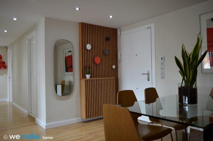 wemakehome, diseño de mueble para entrada