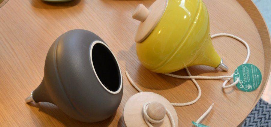 peonza de cerámica
