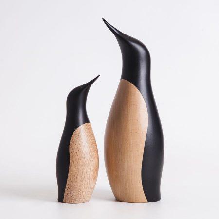 Pingüinos de madera, architectmade
