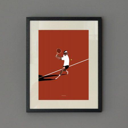 Ilustración tenista Nadal