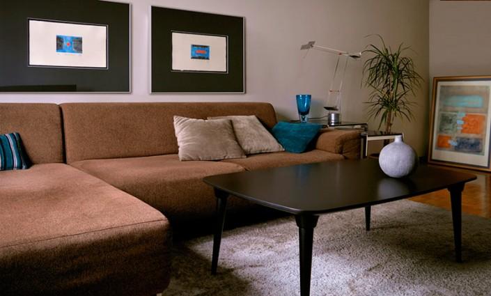mesa púa rectangular centro salón
